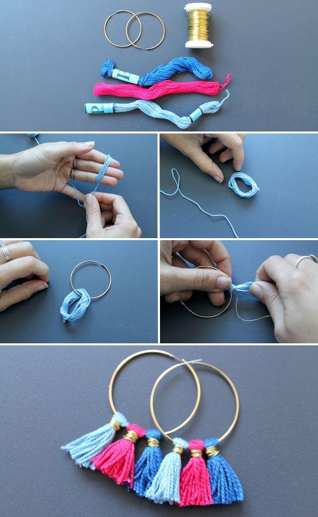 DIY - Les boucles d'oreilles à pompons