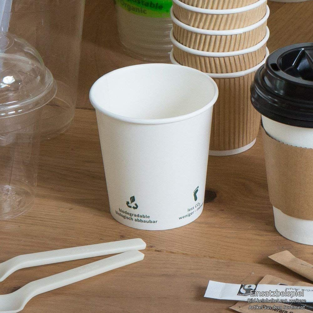 BIOZOYG Organic paper coffee cups I compostable and