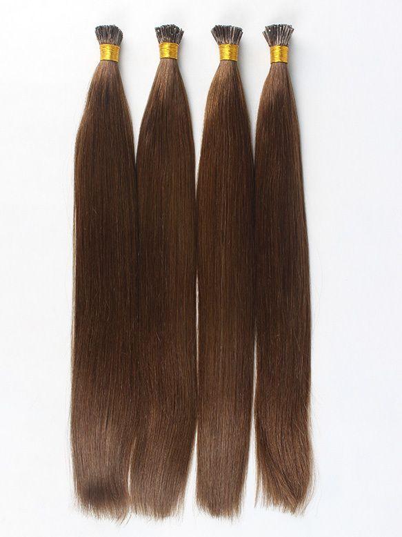 100strands 100g Indian Remy I Tip Stick Tip Pre Bonded Human Hair