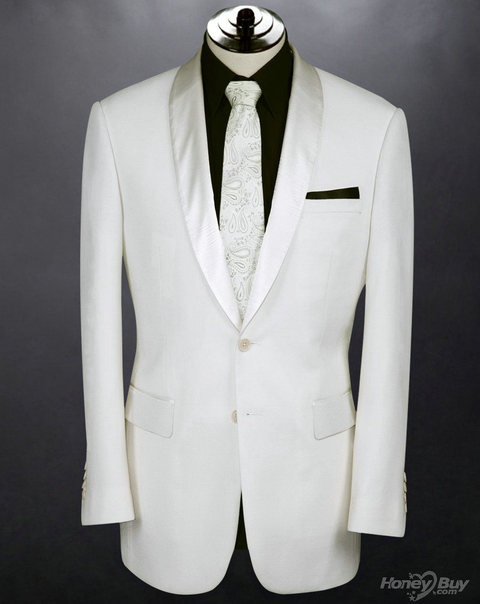 Suits For Men White Tail Wedding Slim Fit