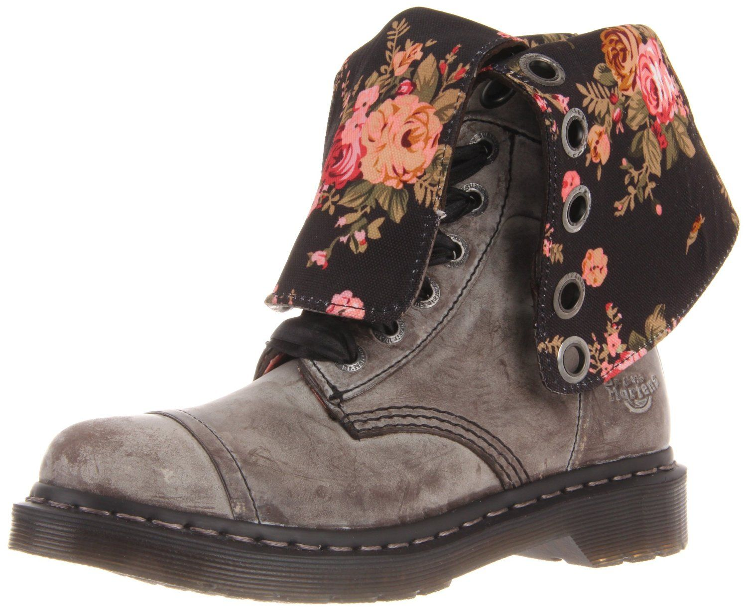 Model Dr. Martens Womenu0026#39;s Pascal Virginia Leather 8-Eye Lace Up Boots - Black | FREE UK Delivery | Allsole