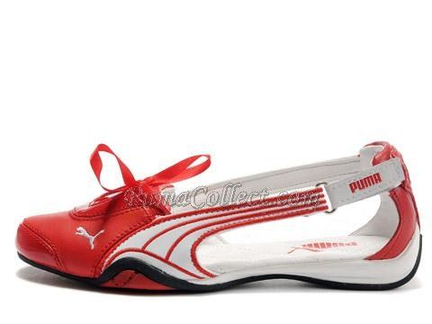 332cf5d762c Google Image Result for http   www.pumacollect.com images . Puma SandalsPuma  OnlinePuma SneakersWhite PPumasWoman ShoesRedBallerinasRibbons