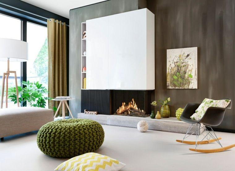 chimenea moderna Fireplace 01 Pinterest Chimeneas modernas - diseo de chimeneas para casas