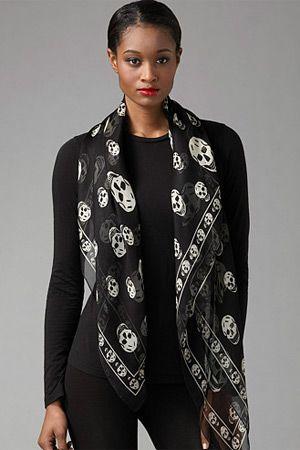 Alexander mcqueen skull scarf, Silk