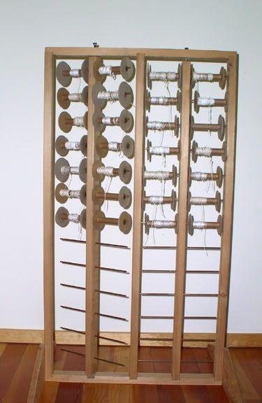 Spool Rack Diy Weaving Spool Holder Sewing Box