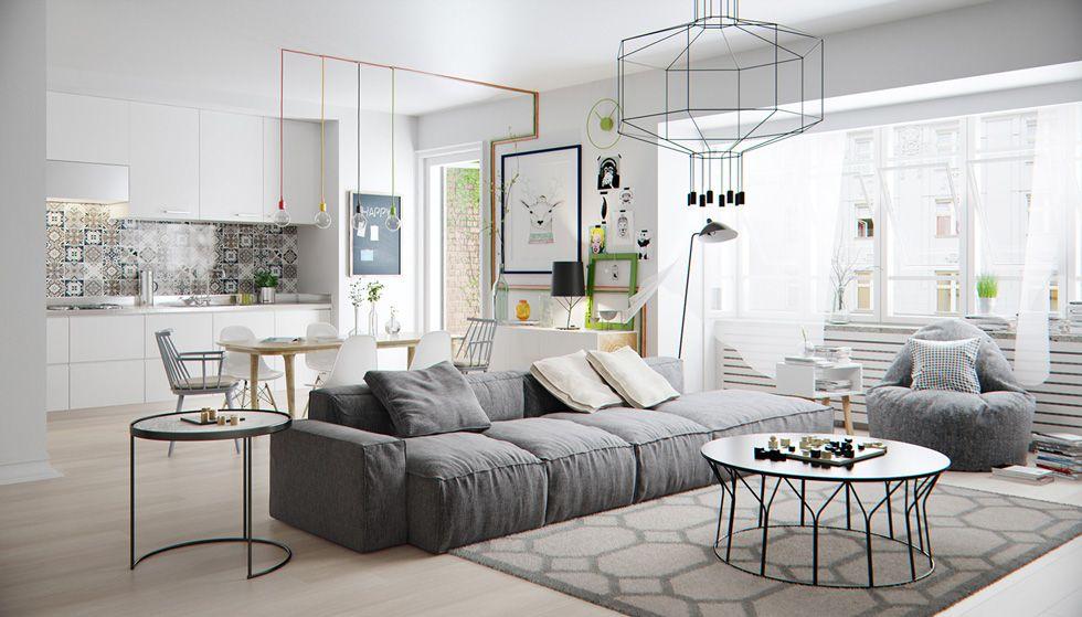 Colore pareti soggiorno idee per cambiare stile idee for Colori pareti salotto moderno