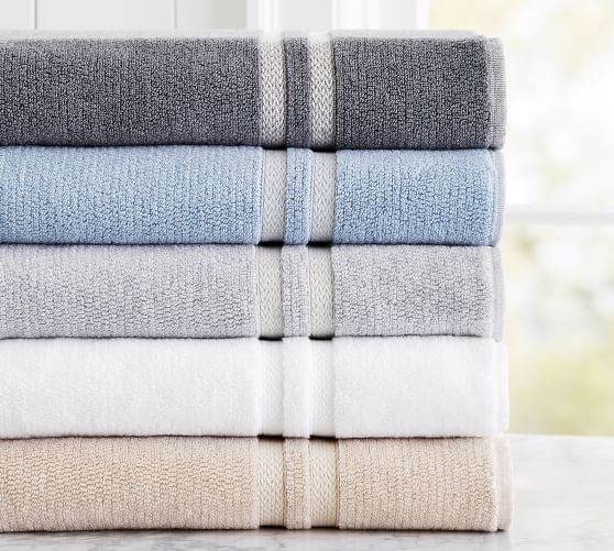 Hydrocotton Bath Towels Inspiration Heathered Hydrocotton Bath Towel  Flagstone #potterybarn Design Ideas