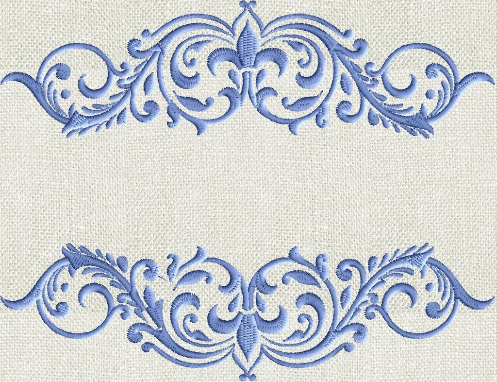 Royal Regal Crown style Font Frame EMBROIDERY DESIGN