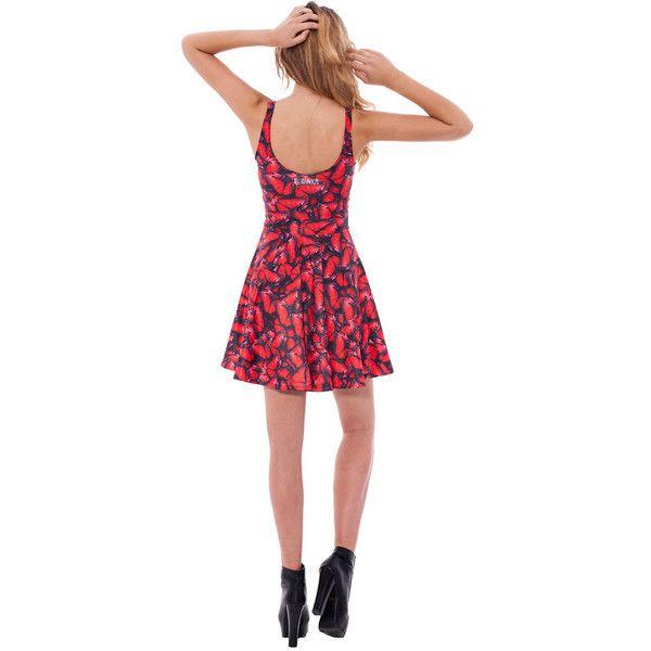 Petticoat Dress Summer Dress Red Dress Butterflies Dress Skater Dress...  (210 BRL 01804dd341