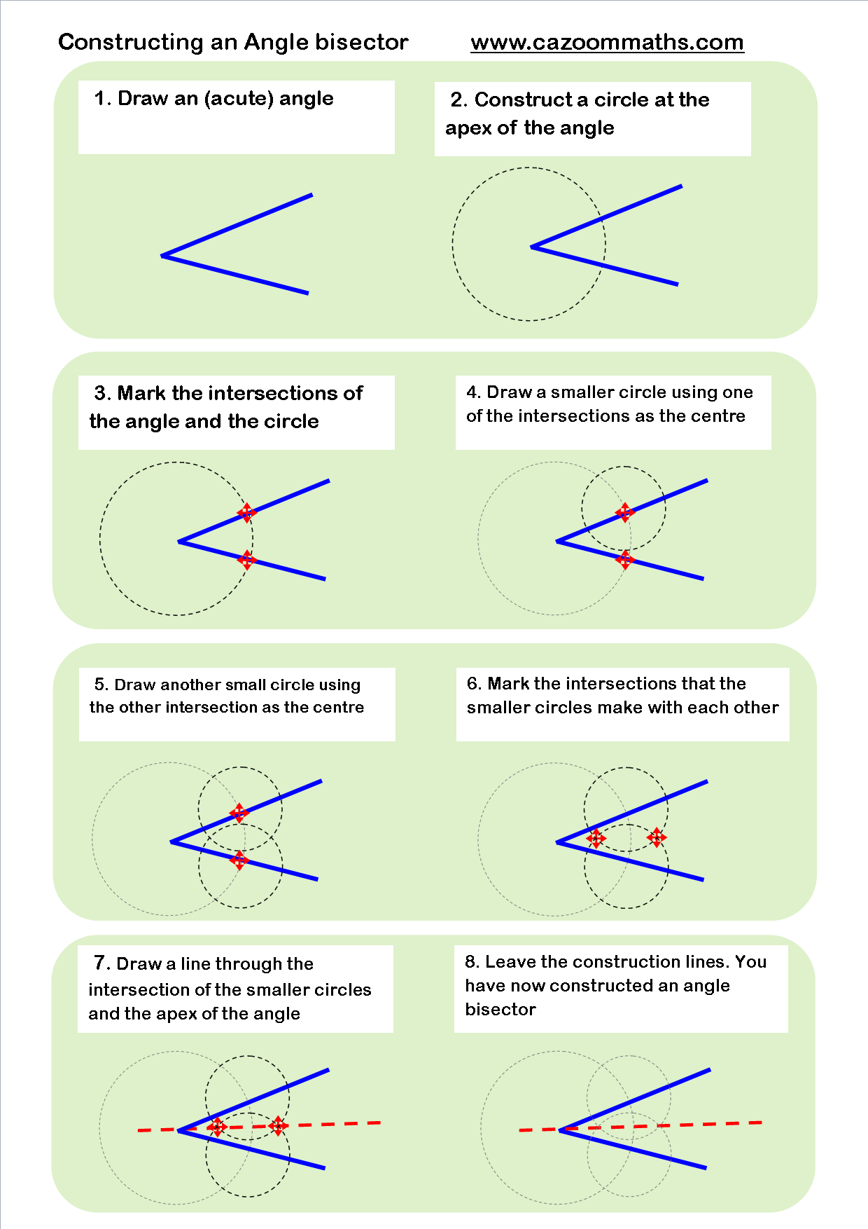 Constructing an angle bisector | geometry | Pinterest | Math ...