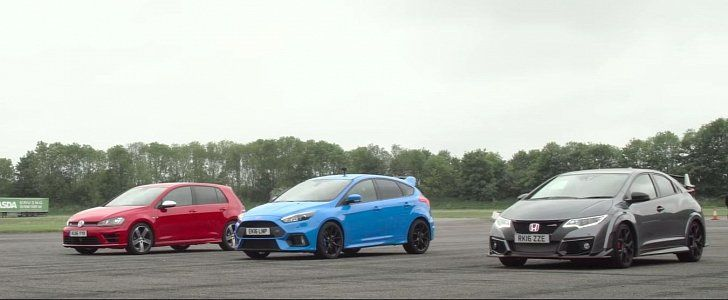 Ford Focus Rs Takes On Civic Type R And Golf R Again Ford Focus Rs Ford Focus Focus Rs