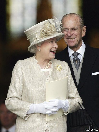 The Queen. I like to see her laughing- you don't see that much.