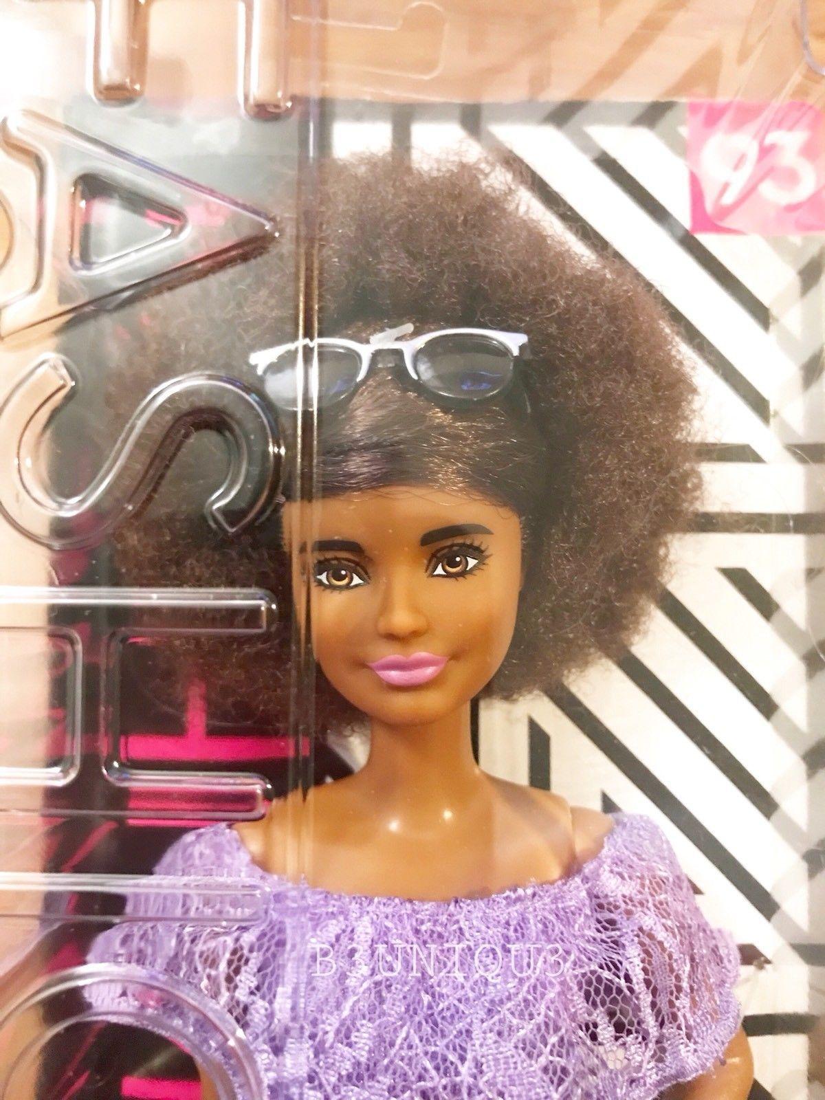 00bc1836126 Barbie Fashionista 93 Purple Lace Romper Petite African American Doll