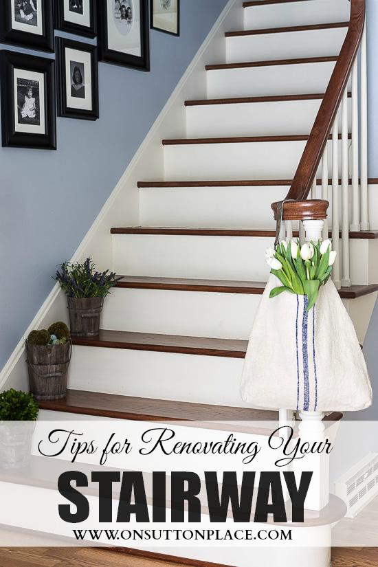 A Refinished Staircase Project That Begins With Removing Old Carpet From  The Stairs And Ends With