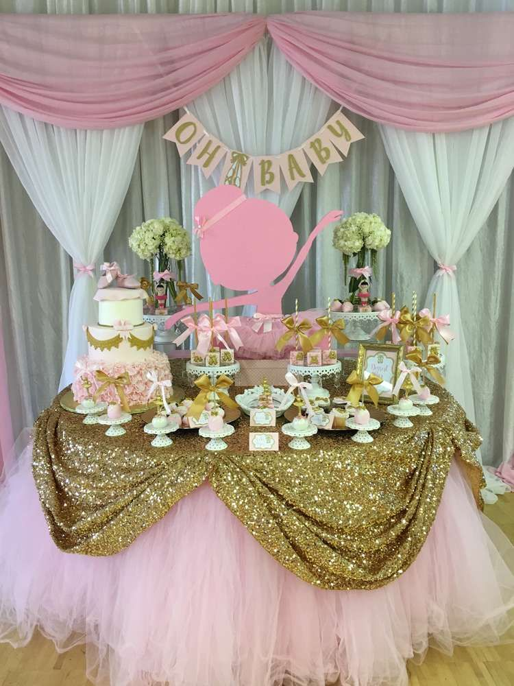 Ballerina Baby Shower Party Ideas Birthday Decor Idea Pinterest