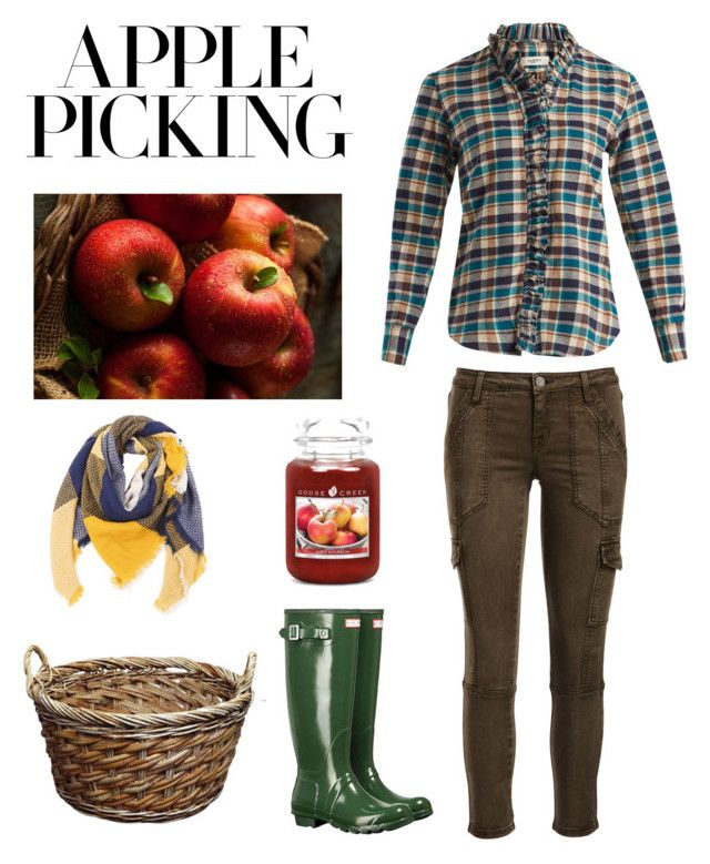 """""""Apple picking🍎"""" by valelondon ❤ liked on Polyvore featuring Fuji, Joie, Hunter and Étoile Isabel Marant"""