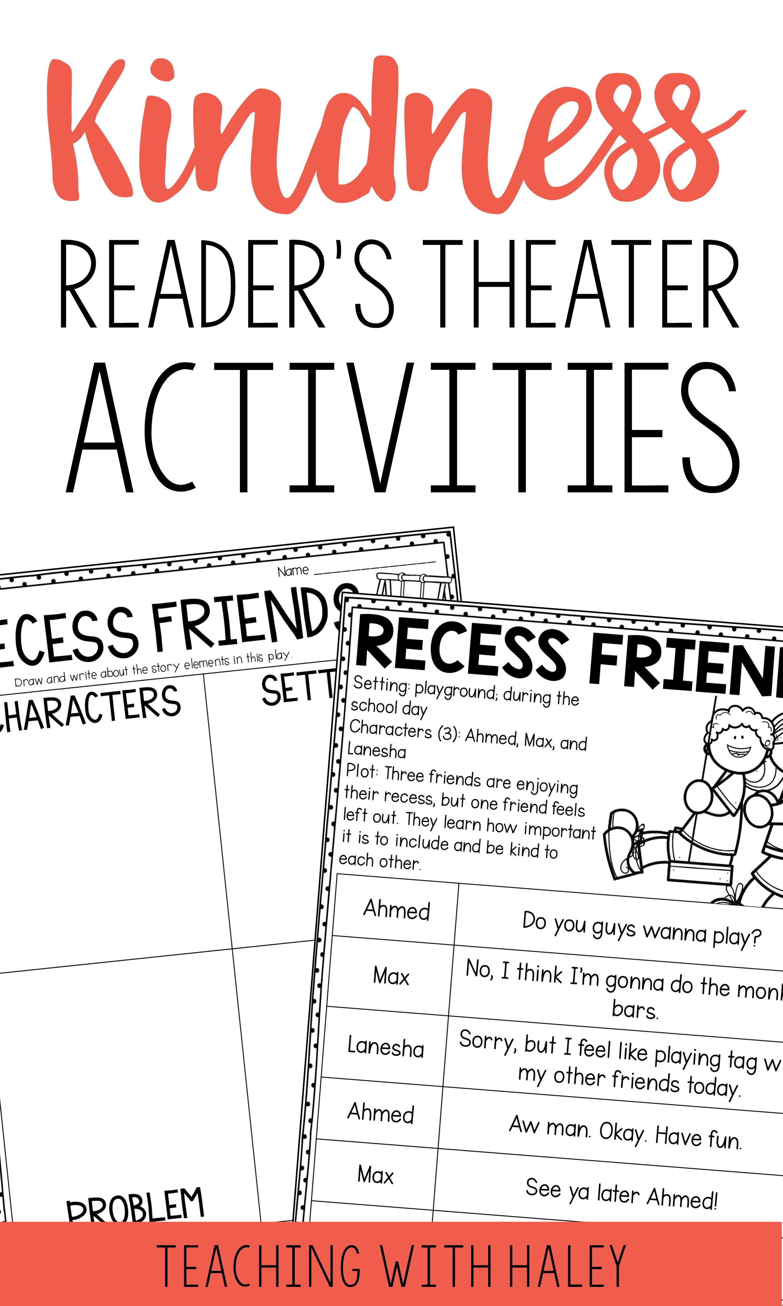 Kindness Reader S Theater Character Education