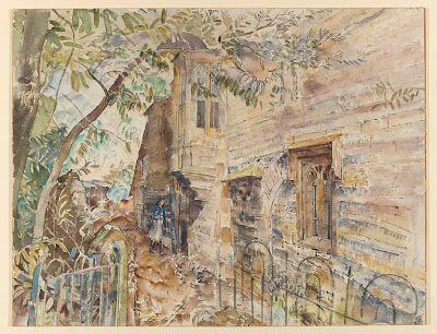 """Thomas Hennell, """"The Guest House, Cerne Abbas"""" (c. 1940)"""