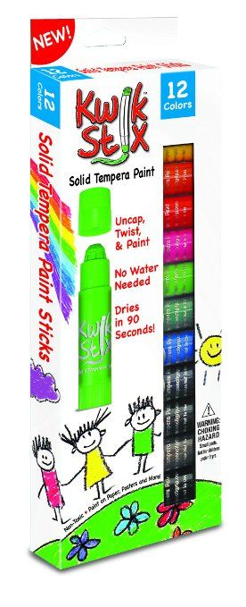 The Pencil Grip Kwik Stix Solid Tempera Paint Super Quick Drying 12 Pack Tpg 602 Pencil Grip Painted Sticks Tempera
