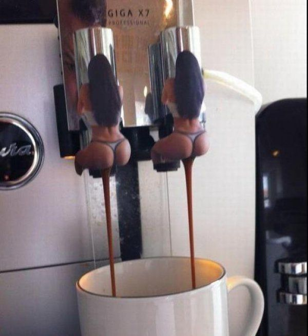 Coffee Taps Make Coffee Come out of Girls' Butts. Gross!
