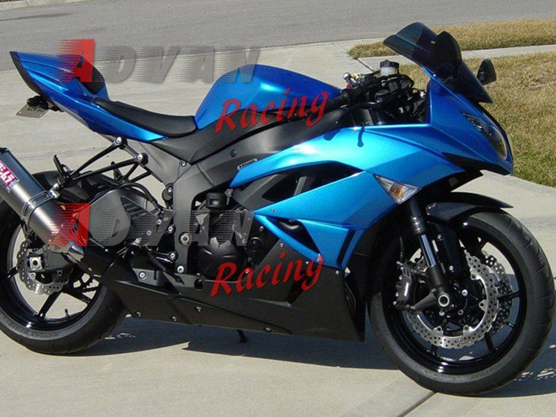 29 Blue Black Kawasaki Ninja ZX6R Fairings 2009 2010 2011 2012 Motorcycle Fairing Kits ZX 6R