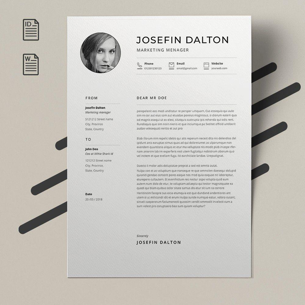 Word Resume Template Resume Template Cover Letter For Resume Resume