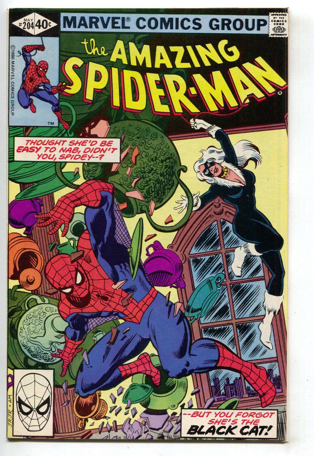 Amazing spiderman 204 marvel 1980 nm 3rd black cat