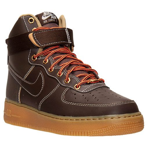 Men\u0027s Nike Air Force 1 High 07 Basketball Shoes | Finish Line | Baroque  Brown/
