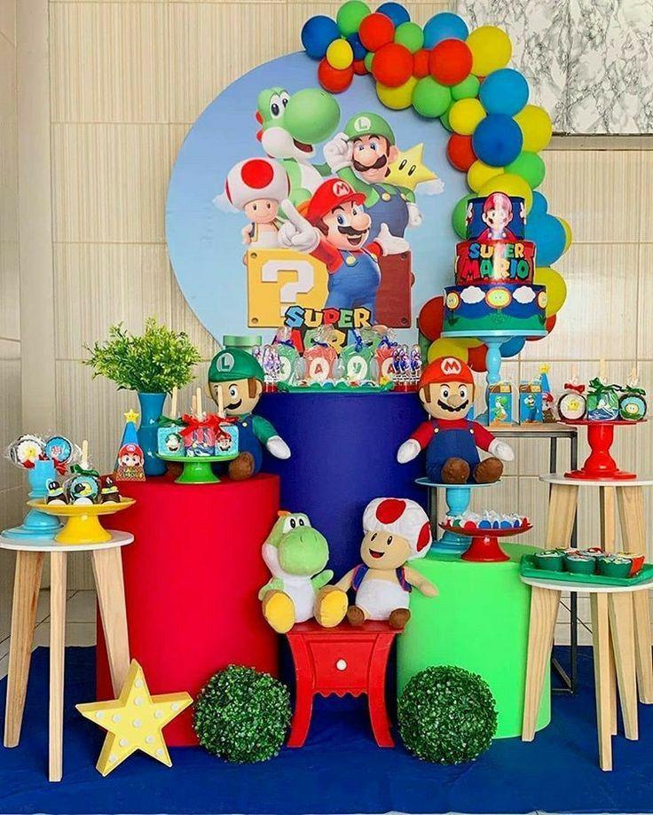 Pin De Naty Rivera En Mario Decoracion De Mario Bros Fiesta De Cumpleaños De Mario Mario Bross Decoracion