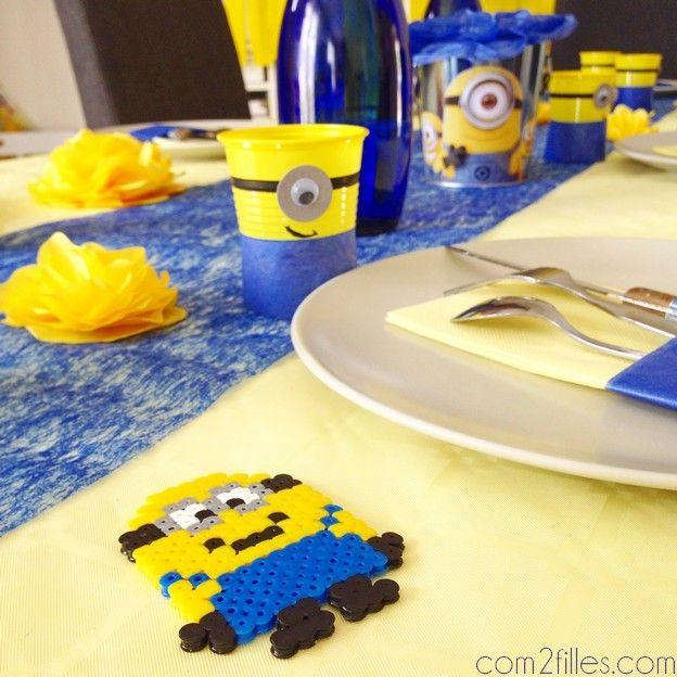DIY  deco de table sur le theme des minions  Parties
