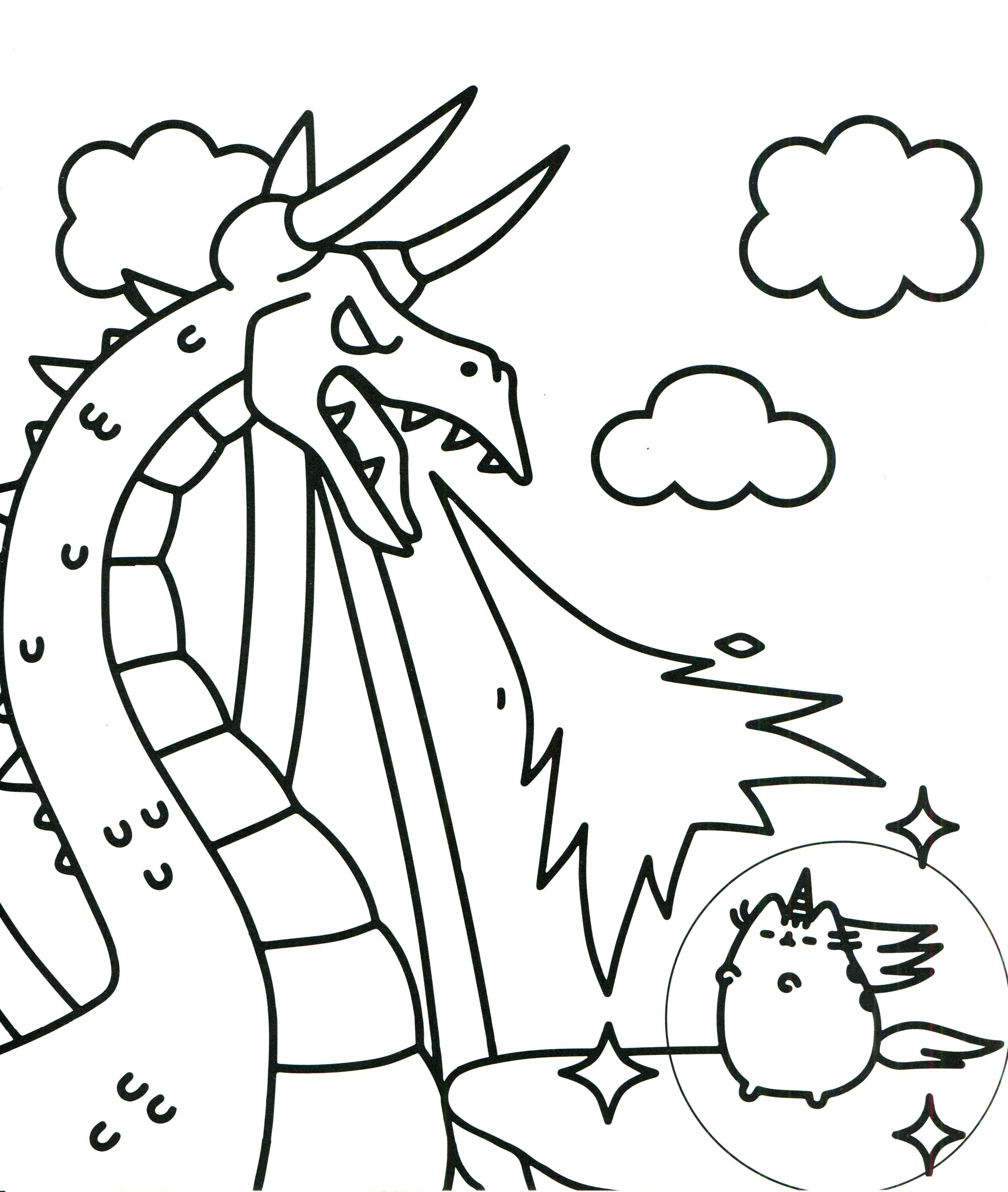 Unicorn Fighting Coloring Page