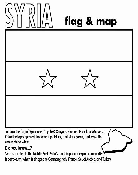 Saudi Arabia Flag Coloring Page Fresh Syria Coloring Page In 2020