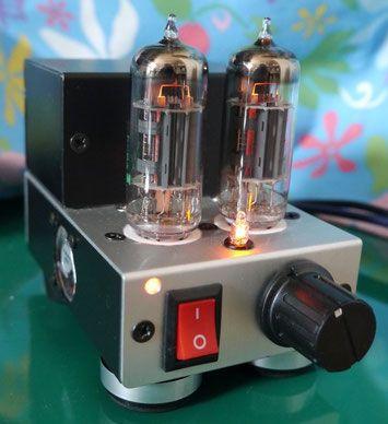 手のひらサイズ真空管アンプ自作diy Audio Palm Sized Tube Amplifier Versterker Luidspreker