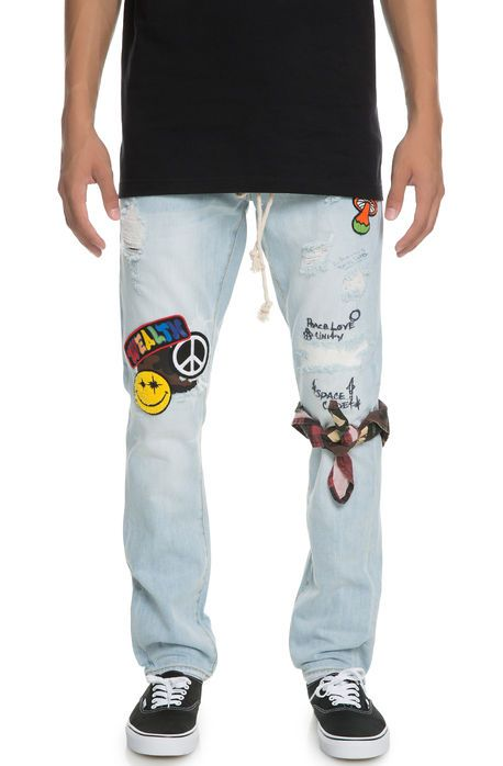 f1b5fffe Billionaire Boys Club The Moonchild HMPL Distressed Denim in Light Blue -  Karmaloop.com