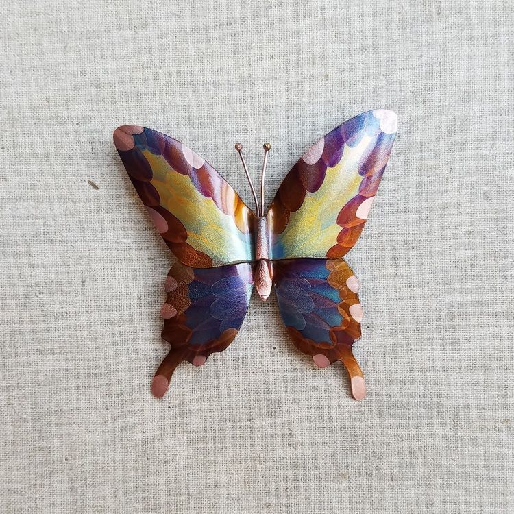 2pc. Swallowtail Butterfly .jpg Copper art, Copper
