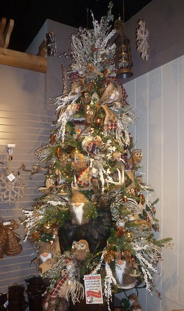 Woodland Tree Filled With Forest Creatures And Natural Fibers In Many Forms Woodland Christmas Tree Christmas Tree Woodland Christmas