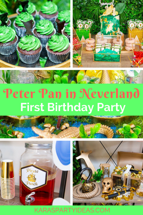 Peter Pan In Neverland First Birthday Party Kara S Party Ideas Boys First Birthday Party Ideas Onederland Birthday Party First Birthday Parties