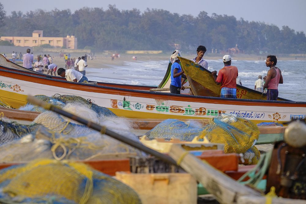 Fishermen in Mumallapuram, India
