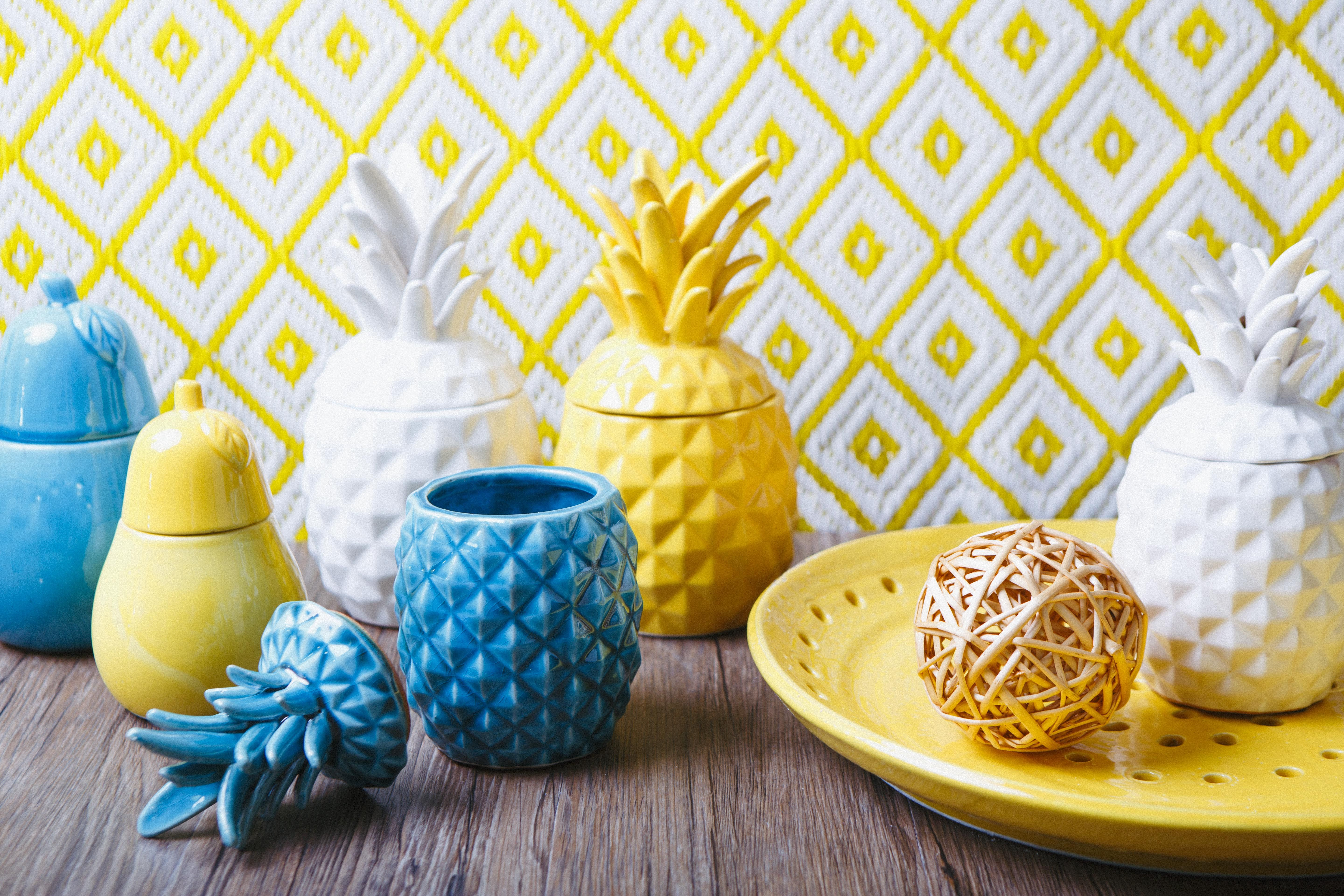 Ceramic Pineapples - The Home