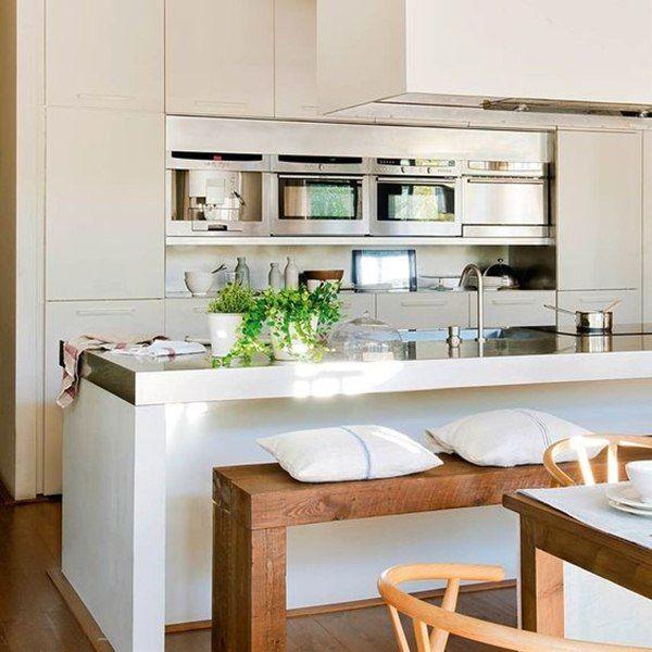 Cocinas con barra Ideas para, Kitchens and Decoration - cocinas con barra