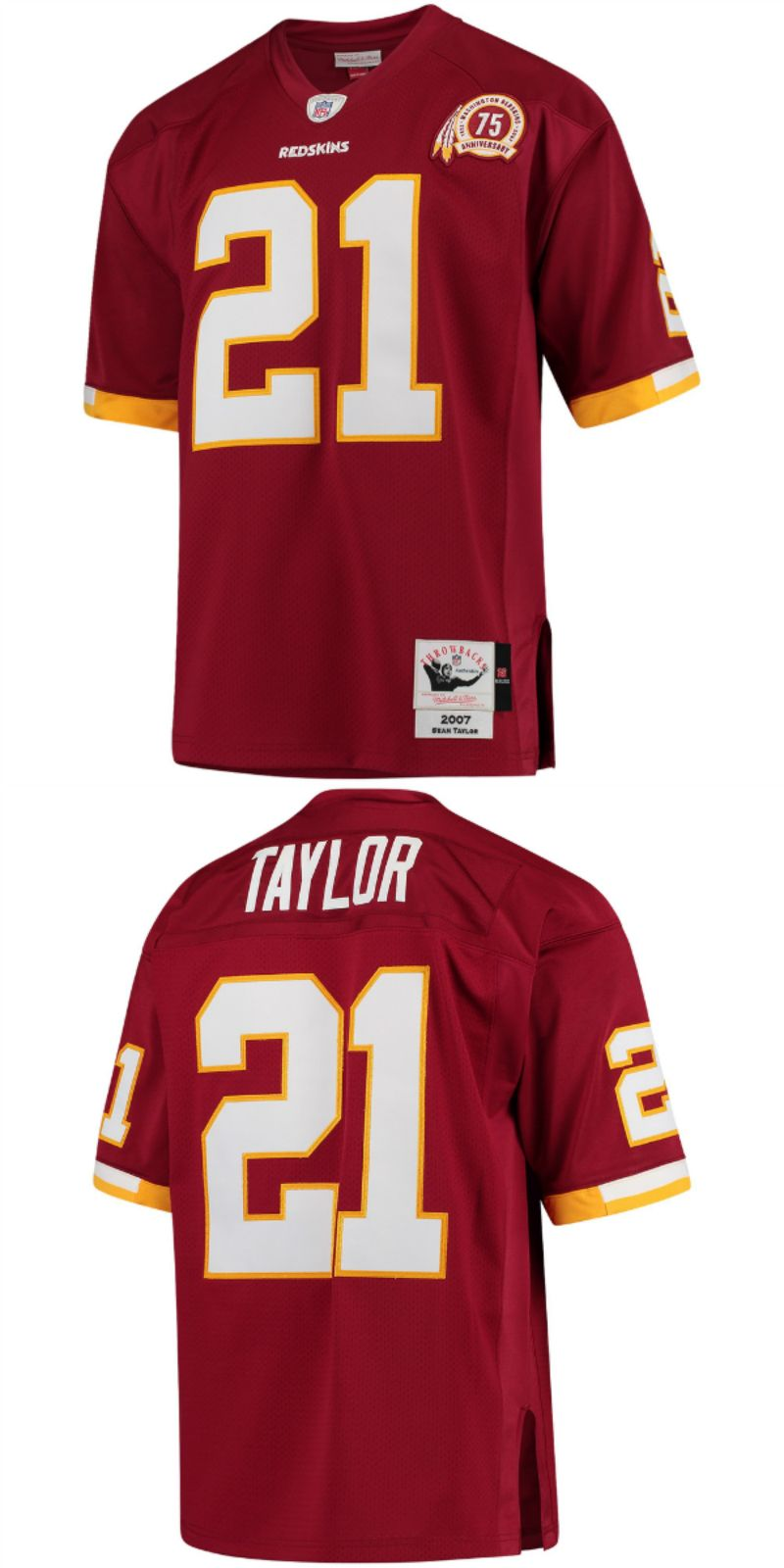 the best attitude c9872 da3ab Sean Taylor Washington Redskins Mitchell   Ness 2007 Authentic Retired