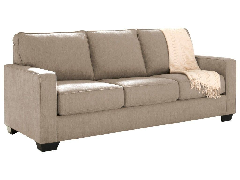 signature design by ashley zeb queen sofa sleeper with memory foam