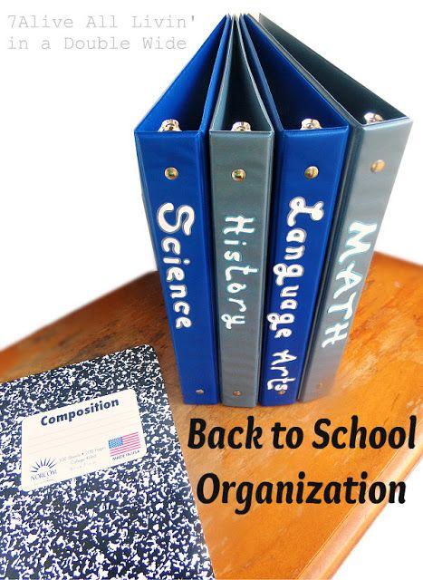 7Alive all Livin' in a Double Wide: Back to School Locker Organization