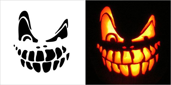 Printable pumpkin carving patterns scary