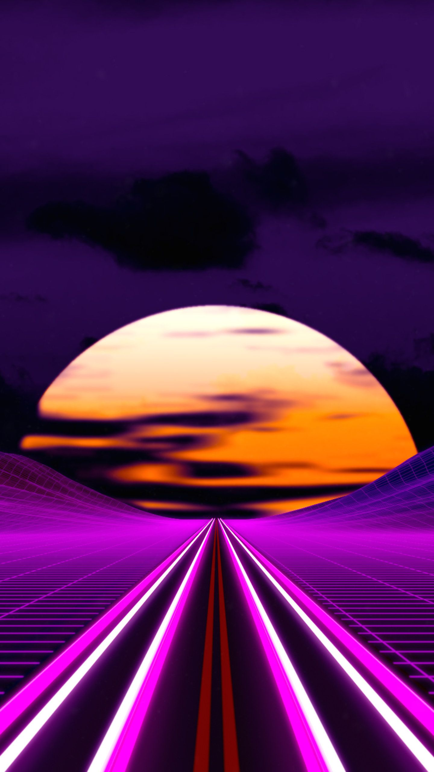Retro Outrun Road 4k Hd Artist Wallpapers Photos And Pictures Vaporwave Wallpaper Synthwave Wallpaper