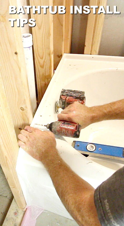 Basement tub installation tips bathroom installation