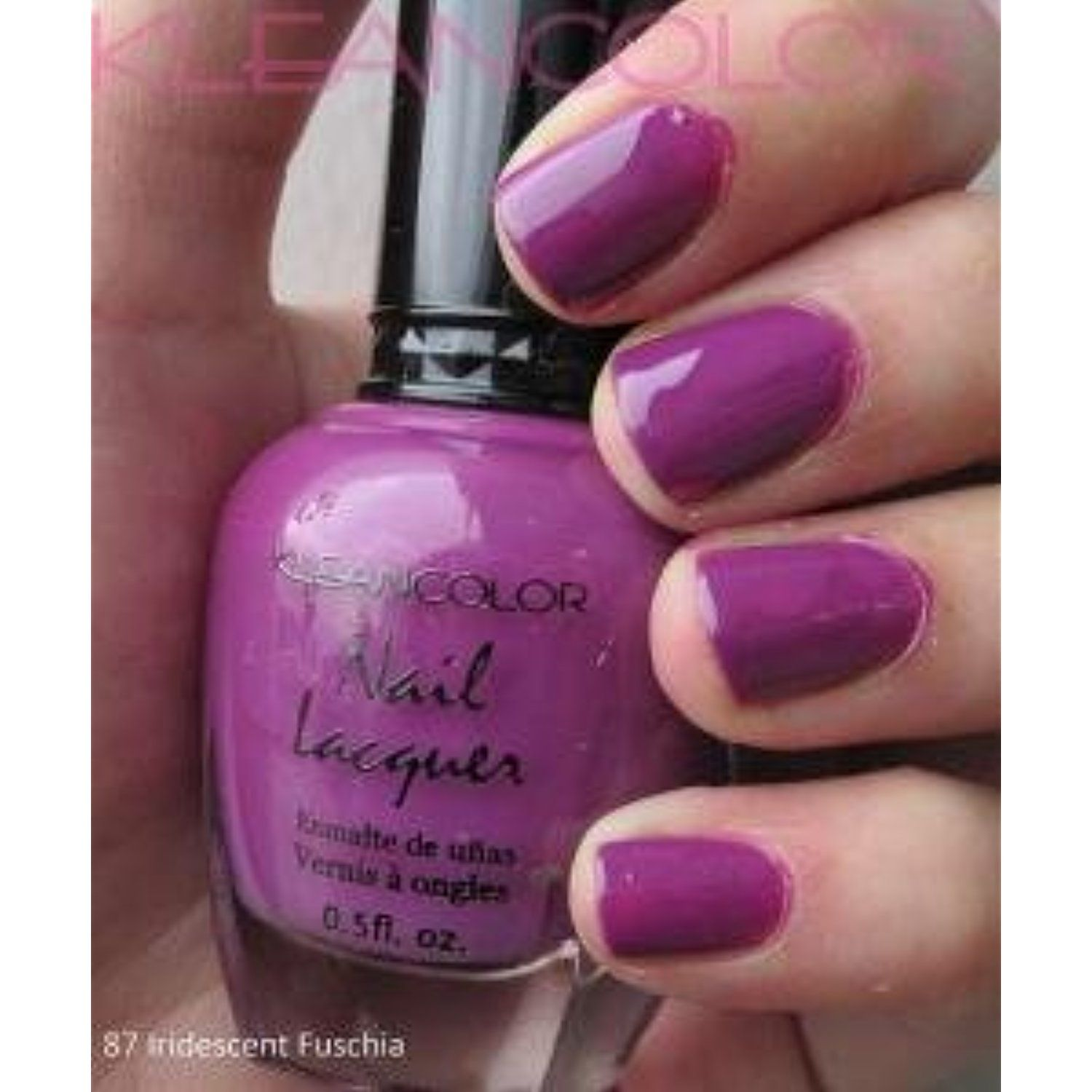 Kleancolor Nail Lacquer Iridescent Fuschia 87 *** Be sure to check ...