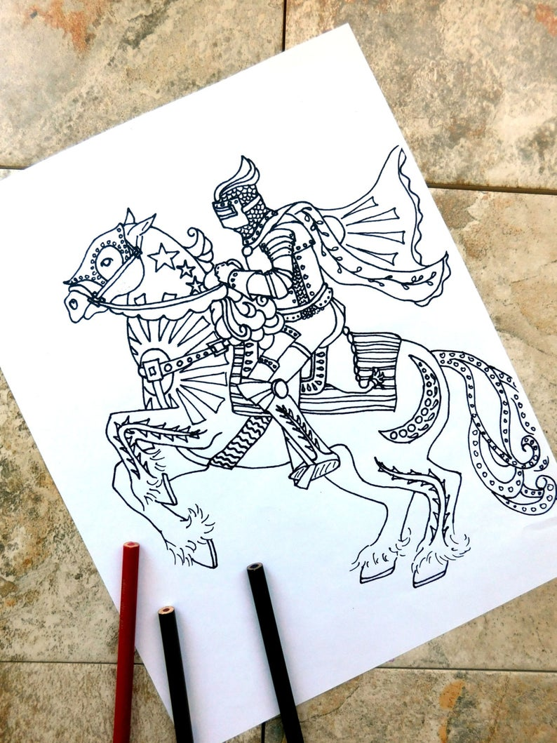 Horse Coloring Pages Knight Coloring Page Midevil Dark Ages Riding Gallop Chivelry Saddle Cape Horse Coloring Pages Butterfly Coloring Page Steampunk Coloring [ 1059 x 794 Pixel ]