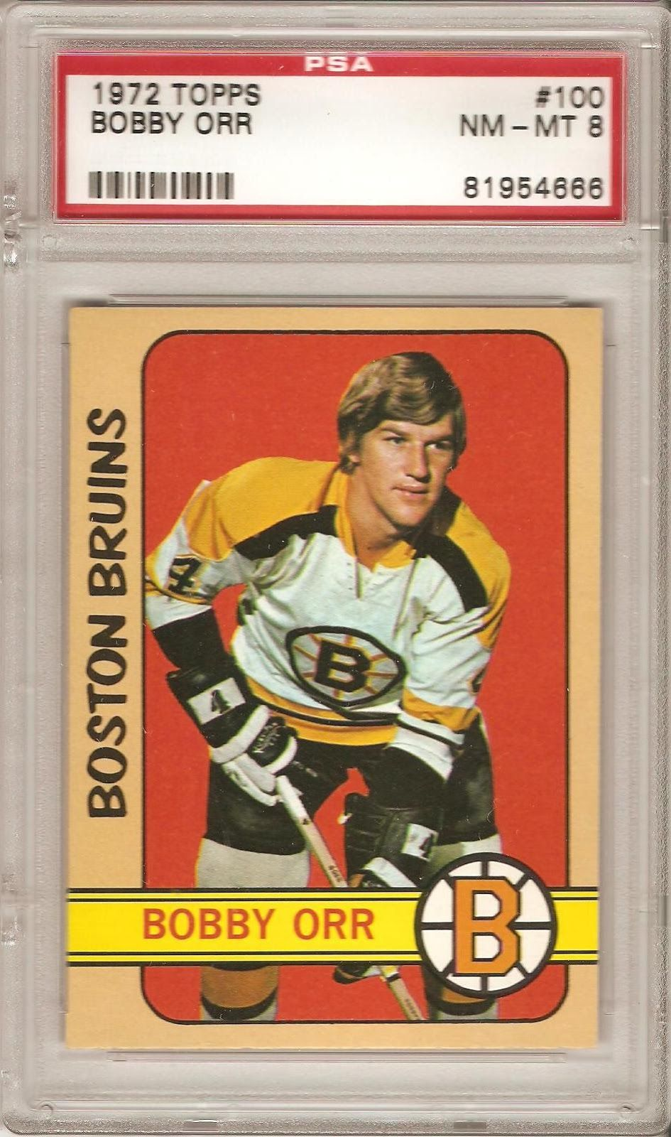 100 Most Valuable Hockey Cards | Card #10 - 1972-73 Topps #100 - Bobby Orr