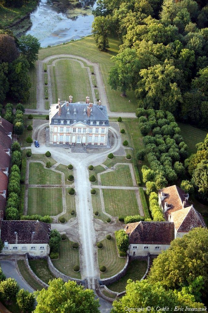 Photo aérienne de Noyen-sur-Seine - Seine-et-Marne (77) La France
